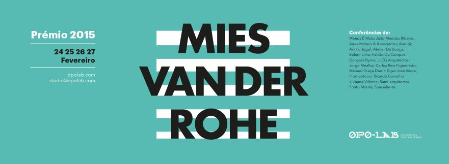 Lecture at EU-Mies van der Rohe Award 2015 nominees conferences